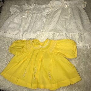 Bundle of Vintage 80s 0-3 Months Dresses